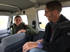 Sjoerd Kluiving in conversation with Susan Bonekamp, site manager of the Oostvaardersplassen.