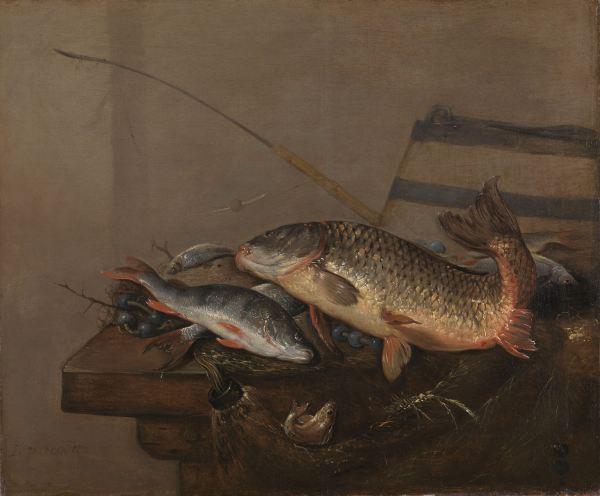 Pieter van Noort, Stilleven met Vissen (1648-72)